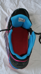 image showing fitting of a new insole as part of a series showing how to fit insoles
